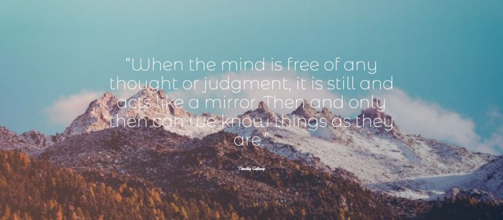 When the mind is free