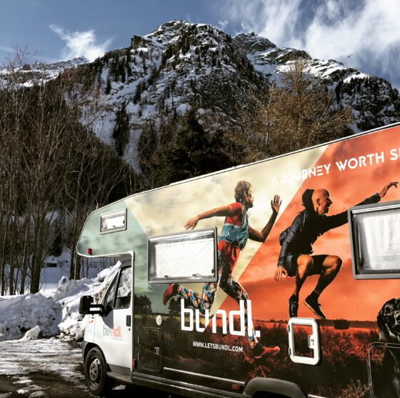Camper en bergen