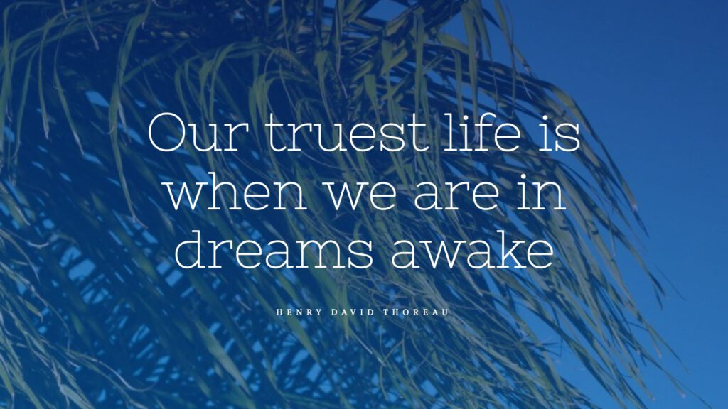 our truest lif is when we are in dreams awake